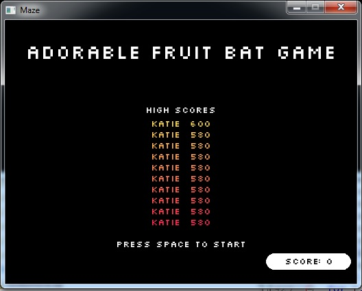 A Fruity Game Made with Löve